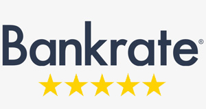 Bankrate logo with stars